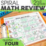 4th Quarter Spiral Math Review | 2nd Grade Morning Work | Printable & Digital