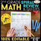 2nd Grade Spiral Review & Quiz BUNDLE | Reading, Math, Language | ENTIRE YEAR!