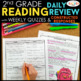 2nd Grade Spiral Review Distance Learning Packet | Reading, Math, & Grammar