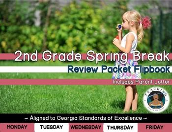 2nd Grade Spring Break Review Packet Flipbook