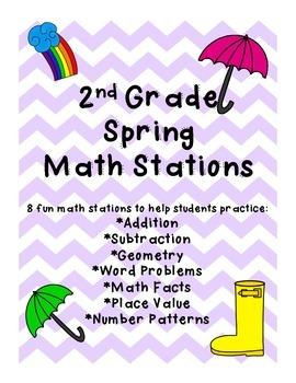2nd Grade Spring Common Core Math Centers