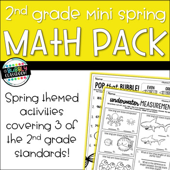 2nd Grade Spring Math Mini-Pack {Print and Go}