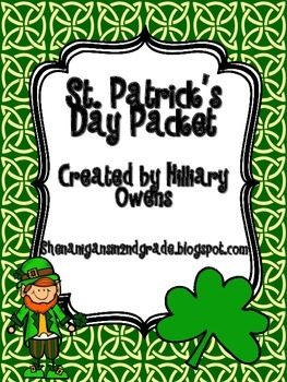2nd Grade St. Patrick's Day Packet