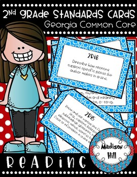 2nd Grade Standards Cards for Reading (Georgia Common Core)