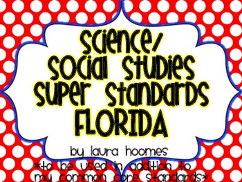 2nd Grade Standards- FLORIDA Science/Social Studies Red & Blue