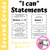 2nd Grade Stepping Stones 2.0 I Can Statements for Modules 1-12
