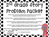 2nd Grade Story Problems (One and Two Step, Within 100, + and -)