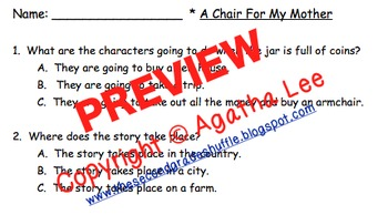 2nd Grade StoryTown - Lesson 21 Study Pack (A Chair For My Mother)