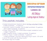 2nd Grade Storytown - Lesson 12 Study Pack (At Play: Long Ago & Today)