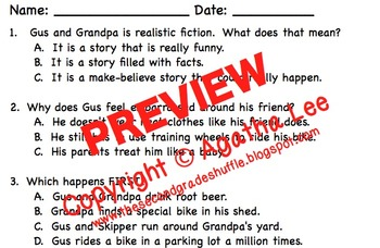 2nd Grade Storytown - Lesson 7 Study Pack (Gus & Grandpa)