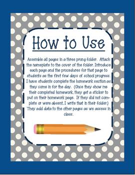 2nd Grade Student Data Folder