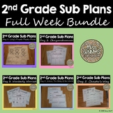 2nd Grade Sub Plans Bundle - Full Week!