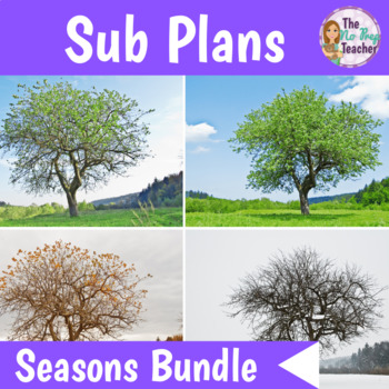 2nd Grade Sub Plans Four Seasons Bundle