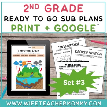 2nd Grade Sub Plans Ready To Go for Substitute. DAY #3. No