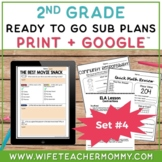 2nd Grade Sub Plans Ready To Go for Substitute. DAY #4. No Prep. One full day.