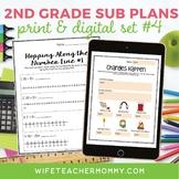 2nd Grade Substitute Plans Set #4- Emergency Lessons Print + Google Bundle