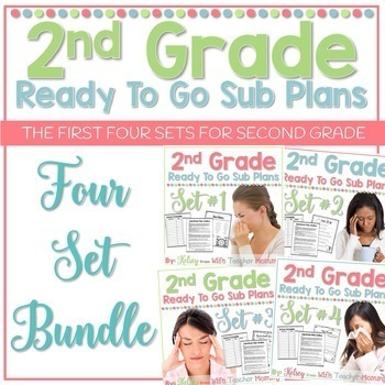 2nd Grade Sub Plans Ready To Go for Substitute. No Prep. FOUR full days.
