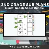 2nd Grade Substitute Lesson Plans Google Slides Bundle