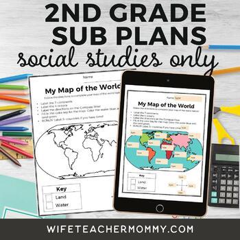 2nd Grade Social Studies Sub Plans for Departmentalized Teachers