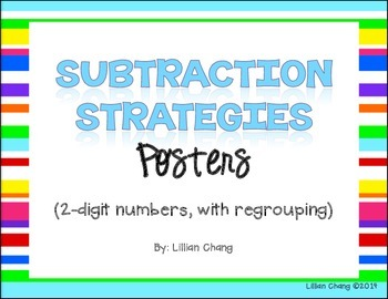 2nd Grade Subtraction Strategies Posters (2-digit, WITH regrouping)