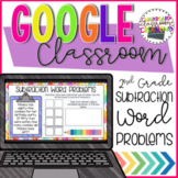 2nd Grade Subtraction Word Problem for Google Classroom Di