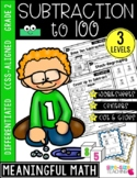 2nd Grade Subtraction to 100 Unit | CCSS Differentiated Worksheets & Centers