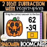 2nd Grade Subtraction with Regrouping Fall Boom Cards