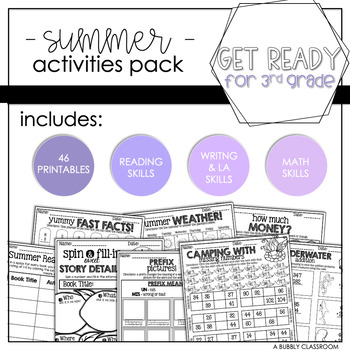 2nd Grade Summer Activities Packet {Print & Go}