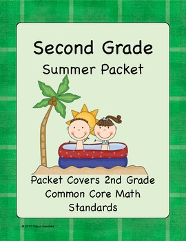 2nd Grade Summer Math Workbook- Common Core Aligned by FourthandGoal