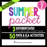 2nd Grade Summer Packet (Differentiated)