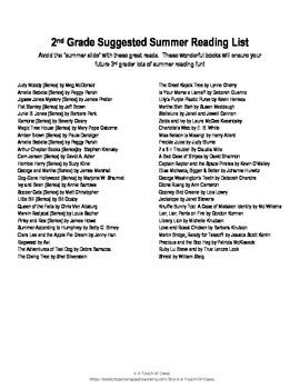 3rd grade reading list pdf
