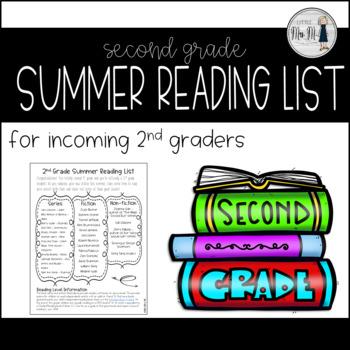2nd Grade Summer Reading List 2018