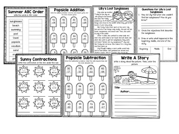 2nd Grade Summer Review Pages