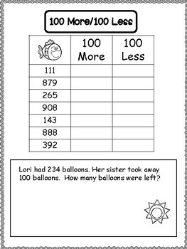2nd Grade Summer School Math