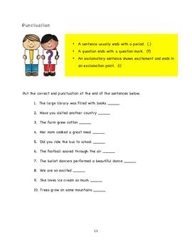 2nd Grade Summer Time Skills