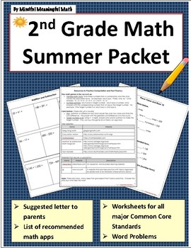 2nd G Math Summer Work Resources and Packet