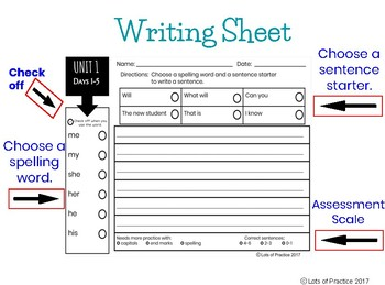 Writing Sentences & Spelling: SuperKids UNITS 1-16 Second Grade