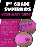 2nd Grade Superkids Vocabulary Card Packet