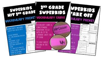 2nd Grade Superkids Vocabulary Resource Bundle