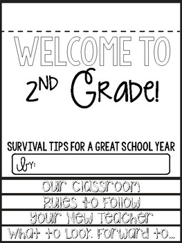 2nd Grade Survival Guide End of the Year Writing Activity