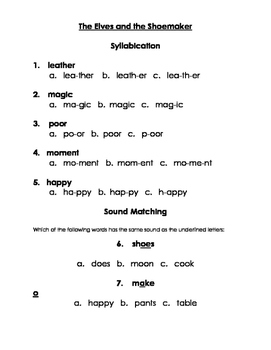2nd  Grade Syllable Practice to Accompany the Open Court Unit: Kindness