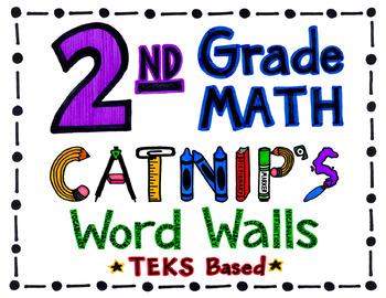 2nd Grade TEKS Based Math Word Wall