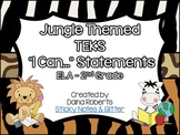 2nd Grade TEKS ELA I Can Statements {Jungle}