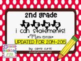 "2nd Grade TEKS ""I Can"" Statements: Math Edition"