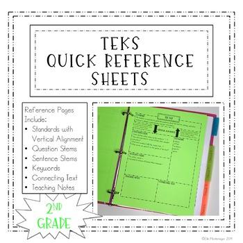 2nd Grade TEKS Quick Reference Sheets