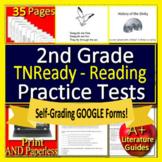 2nd Grade TNReady Test Prep Reading & Games Bundle! SELF-GRADING! TCAP TN Ready