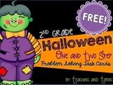 2nd Grade Halloween Math Problem Solving  (1 and 2 Step Pr