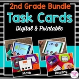 Second Grade Task Cards BUNDLE (digital and printable)