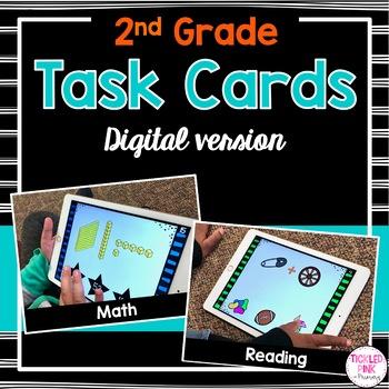 2nd Grade Task Cards Bundle (digital version)