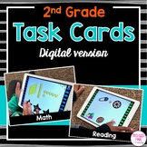 Digital Task Cards for Second Grade